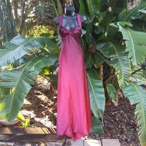 Ombre satin formal dress